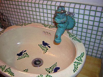 かわいいの~洗面台も
